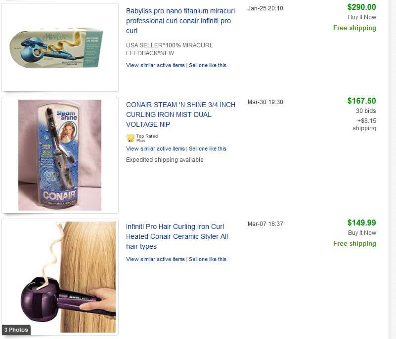 Conair eBay Completed Listings Updated