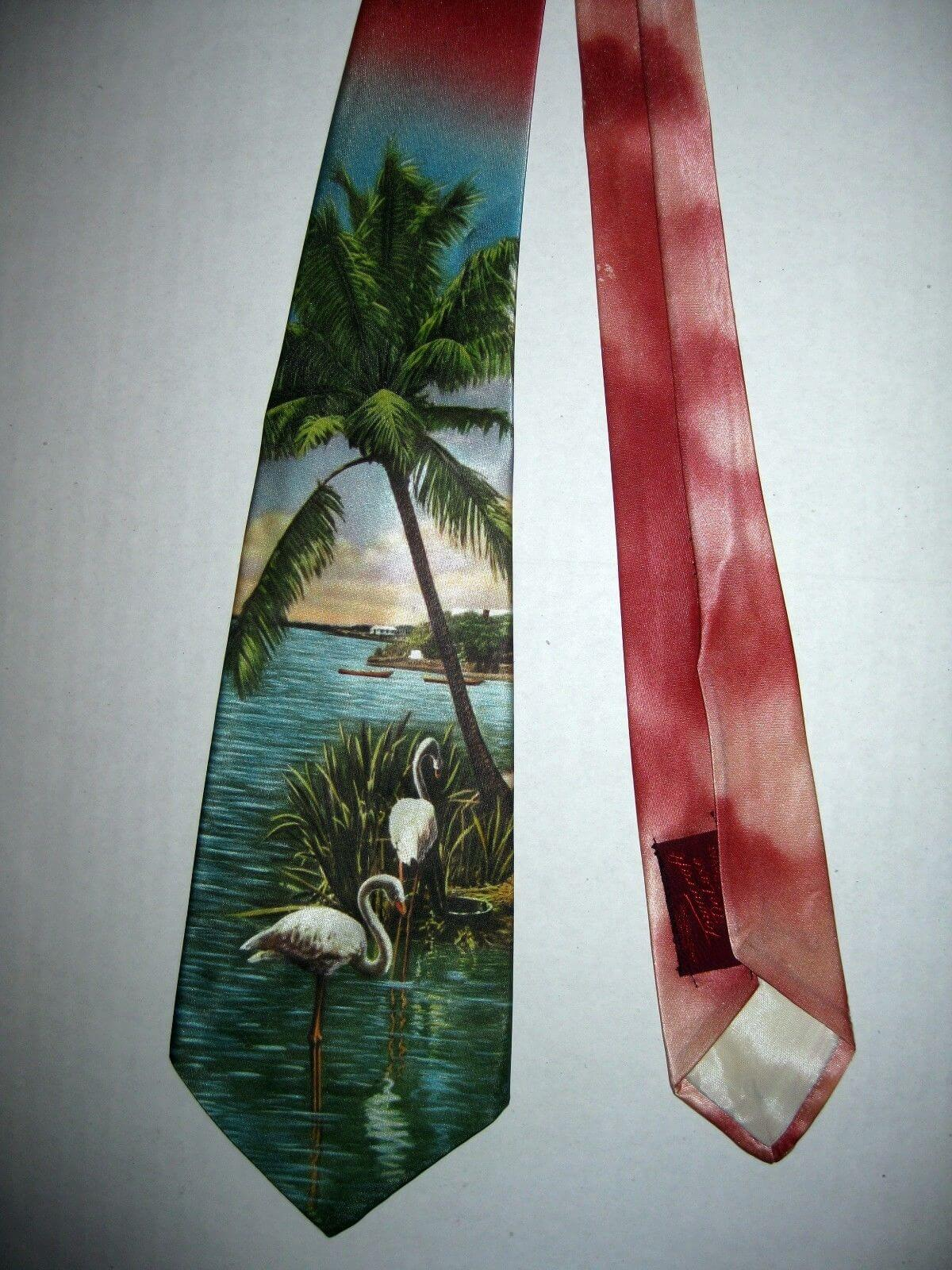 Vintage Hand Painted Silk Ties eBay Flip 2
