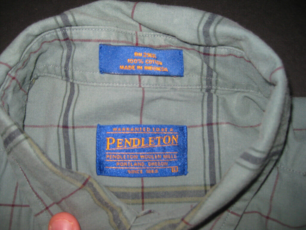 100% Cotton Pendleton Plaid Shirt eBay