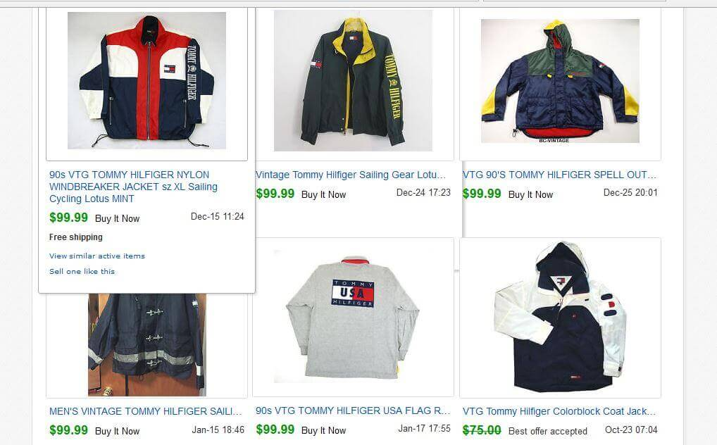 Vintage Tommy Completed Listings eBay