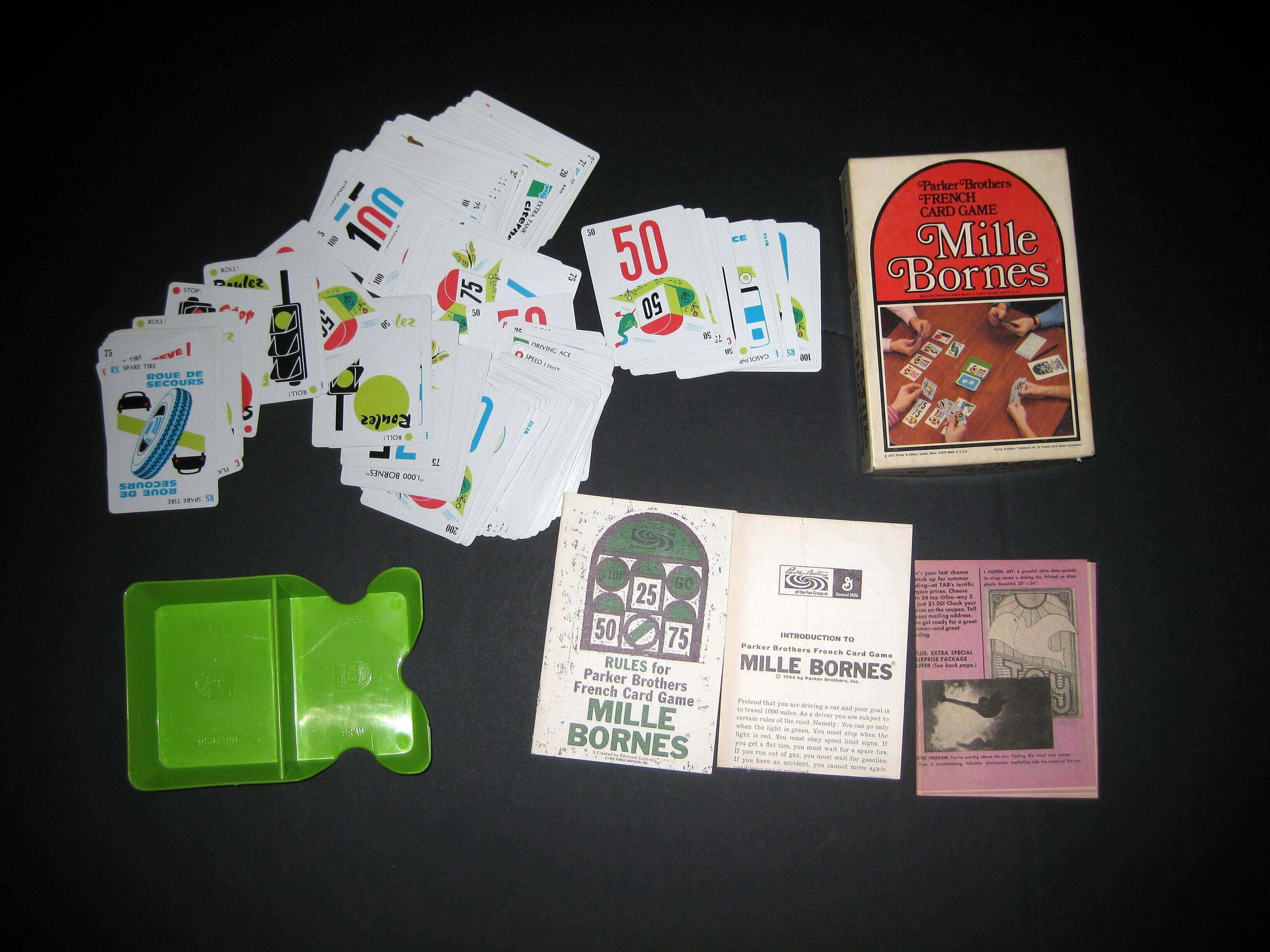 1971 Parker Brothers Mille Bornes Card Game