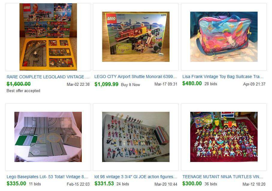 Vintage 90s Toys eBay Completed Listings