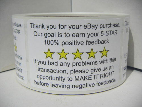 eBay Thank You Stickers