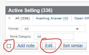 My eBay Active Selling Handling Time