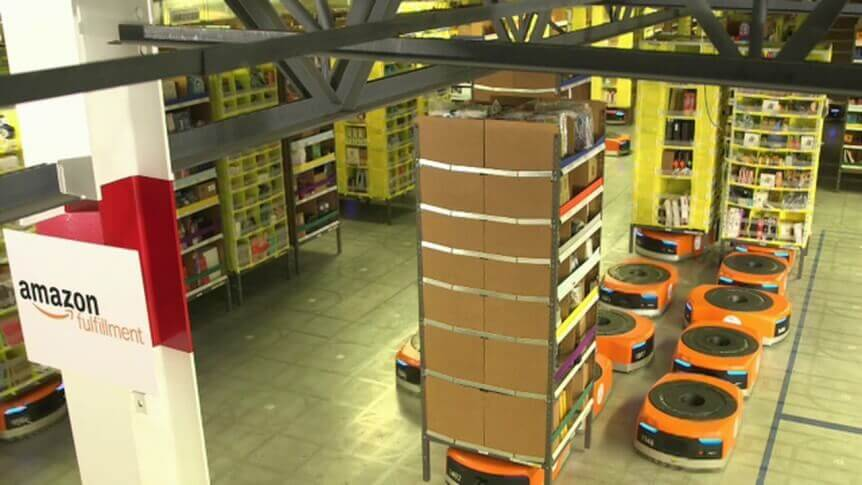 Amazon Warehouse Inventory Management Kiva Robots