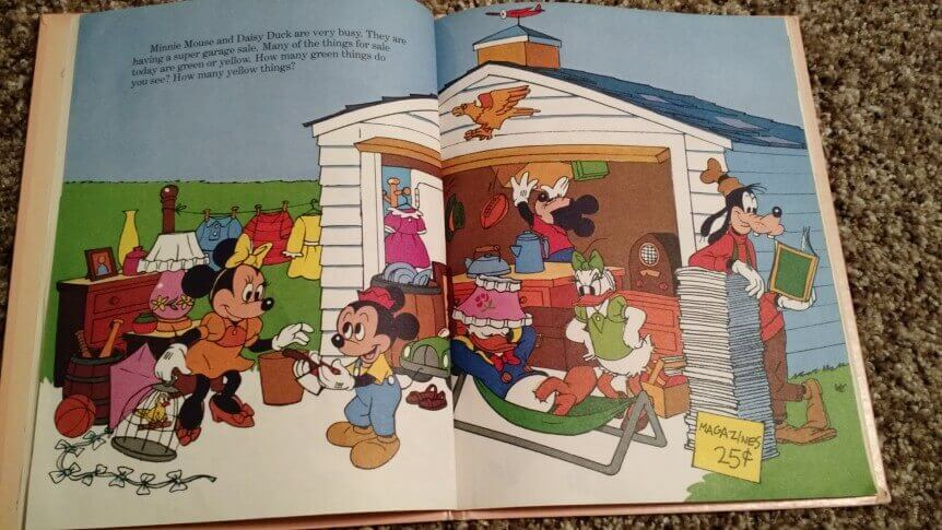 Mickey Mouse Garage Sale Yard Sale Purchase Book