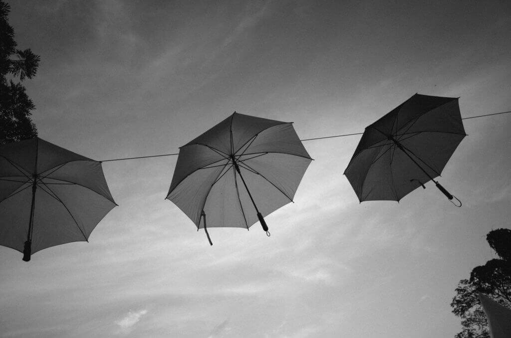 eBay April 2016 Profits Hanging Umbrellas Black White