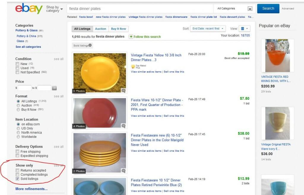 Fiesta Dinner Plates eBay Sold Listings
